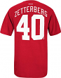 Henrik Zetterberg Detroit Red Wings Reebok NHL Player Red T-Shirt