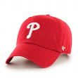 Philadelphia Phillies 47 Brand Clean Up Adjustable Hat - Red