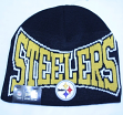 Pittsburgh Steelers New Era NFL Knitted Name Cuffless Knit Hat