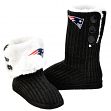 New England Patriots Women's NFL Knit High End Button Boot Slippers