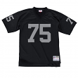 Howie Long Oakland Raiders NFL Mitchell & Ness Throwback Premier Black Jersey