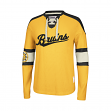Boston Bruins CCM Reebok NHL Knit Rib Crew Skate Lace Shirt