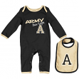 "Army Black Knights Infant NCAA ""Tuck"" Romper & Bib Set"