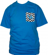 Kentucky Wildcats NCAA Comfort Colors Unisex Zig Zag T-shirt - Blue