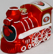 San Francisco 49ers NFL Blown Glass Train Ornament