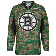 Boston Bruins Reebok NHL 2013 Edge Camouflage Pre-Game Warm Up Jersey
