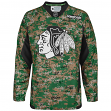 Chicago Blackhawks Reebok NHL 2013 Edge Camouflage Pre-Game Warm Up Jersey