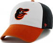 Baltimore Orioles 47 Brand MLB Clean Up Adjustable Hat - White/Orange