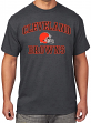 Cleveland Browns Majestic NFL Heart & Soul III Charcoal Men's T-Shirt