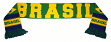 Brazil Brasil World Cup Soccer Authentic Country Wordmark Scarf