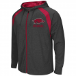 Arkansas Razorbacks NCAA Lift Full Zip Hooded Sweatshirt - Charcoal