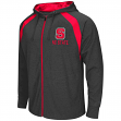 North Carolina State Wolfpack NCAA Lift Full Zip Hooded Sweatshirt - Charcoal