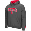 """North Carolina State Wolfpack NCAA """"Zone"""" Pullover Hooded Sweatshirt - Charcoal"""