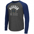 "Michigan Wolverines NCAA ""Hammer"" Long Sleeve Raglan Shirt - Charcoal"