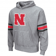 "Nebraska Cornhuskers NCAA ""Bolt"" Pullover Hooded Vintage Sweatshirt - Grey"