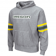 "Oregon Ducks NCAA ""Bolt"" Pullover Hooded Vintage Sweatshirt - Grey"