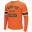 "Oklahoma State Cowboys NCAA ""Meteor"" Soft Slub Long Sleeve Premium T-shirt"