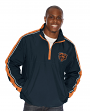 """Chicago Bears NFL G-III """"Touchback"""" 1/2 Zip Pullover Embroidered Jacket"""