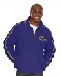 "Baltimore Ravens NFL G-III ""Touchback"" 1/2 Zip Pullover Embroidered Jacket"