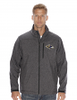 "Baltimore Ravens NFL ""Spike"" Full Zip Premium Soft Shell Jacket - Charcoal"