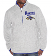 "Baltimore Ravens G-III NFL ""Hail Mary"" 1/4 Zip Sweatshirt - Grey"