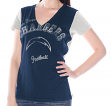 "San Diego Chargers Women's G-III NFL ""Fair Catch"" V-neck T-shirt"
