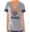 "Chicago Bears Women's G-III NFL ""Team Captain"" Tri Blend V-neck T-shirt"