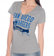 "San Diego Chargers Women's G-III NFL ""Scout Team"" V-neck Grey T-shirt"