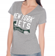 "New York Jets Women's G-III NFL ""Scout Team"" V-neck Grey T-shirt"