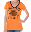 "Cincinnati Bengals Women's G-III NFL ""Flea Flicker"" V-neck T-shirt"