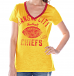 "Kansas City Chiefs Women's G-III NFL ""Flea Flicker"" V-neck T-shirt"