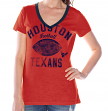 "Houston Texans Women's G-III NFL ""Flea Flicker"" V-neck T-shirt"