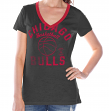 "Chicago Bulls Women's G-III NBA ""Flea Flicker"" V-neck T-shirt"