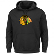 Chicago Blackhawks Majestic NHL Felt Tek Patch Hooded Sweatshirt - Black