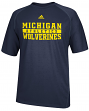 Michigan Wolverines Adidas NCAA 2014 Sideline Shock Performance Shirt