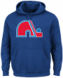 Quebec Nordiques Majestic NHL Vintage Felt Tek Patch Hooded Sweatshirt