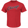 "Chicago Bulls Majestic NBA Throwback ""Post Up"" Men's T-Shirt"
