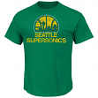 "Seattle Supersonics Majestic NBA Throwback ""Post Up"" Men's T-Shirt"