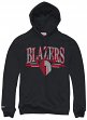 Portland Trail Blazers Mitchell & Ness Abstract Vibes Pullover Hooded Sweatshirt