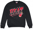 "Miami Heat Mitchell & Ness NBA ""Diagonal Sweep"" Crew Sweatshirt"