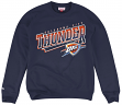 "Oklahoma City Thunder Mitchell & Ness NBA ""Diagonal Sweep"" Crew Sweatshirt"