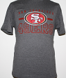 San Francisco 49ers Majestic NFL Line of Scrimmage VII Men's T-Shirt - Charcoal
