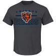 Chicago Bears Majestic NFL Line of Scrimmage VII Men's T-Shirt - Charcoal