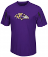 Baltimore Ravens Majestic NFL Fan Fare VII Performance Shirt - Purple