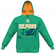 Miami Dolphins Majestic NFL Seam Pass Pullover Hooded Sweatshirt