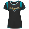 "Jacksonville Jaguars Women's Majestic NFL ""Pride Playing V"" T-shirt"