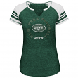 """New York Jets Women's Majestic NFL """"More than Enough V"""" T-shirt"""