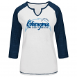 """San Diego Chargers Women's Majestic NFL """"Victory Is Sweet IV"""" 3/4 Sleeve Shirt"""