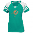 Miami Dolphins Women's Majestic NFL Draft Me VII Jersey Top Shirt - Aqua