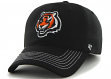 "Cincinnati Bengals 47 Brand NFL ""Game Time"" Black Stretch Fit Hat"